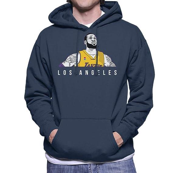 fc091d499d7 Cloud City 7 Lebron James of The Los Angeles Lakers Men s Hooded Sweatshirt