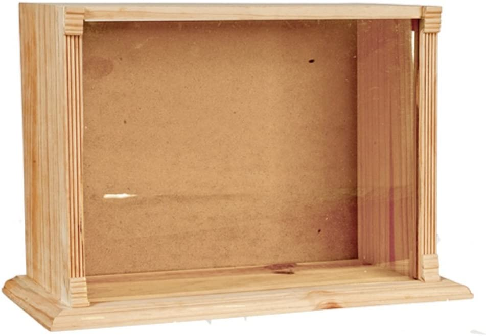 Melody Jane Dollhouse Display Room Shadow Box with Perspex Front 1:12 Small Unfinished