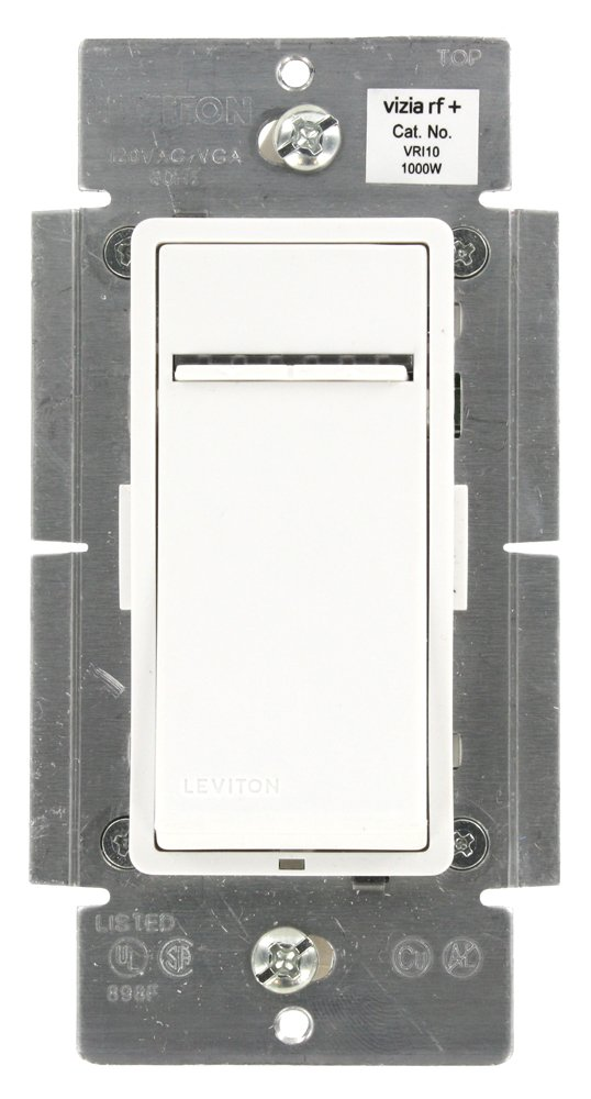 Leviton VRI10-1LZ Vizia RF+ Incandescent Dimmer 1000W, Z-Wave, Works with Alexa