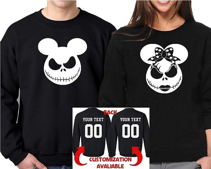 bfb486b9102c Amazon.com  Halloween Jack Mouse Ears Cartoon Hoodie