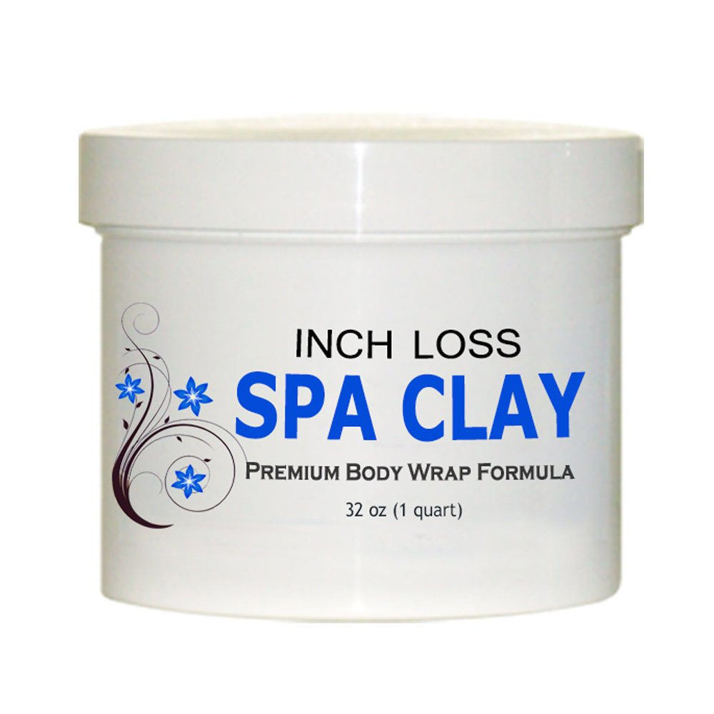 Inch Loss Spa Clay Body Wrap Formula - Large 1 Quart Size for Multiple Treatments