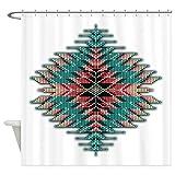CafePress Southwest Native Style Sunburst Decorative Fabric Shower Curtain (69''x70'')