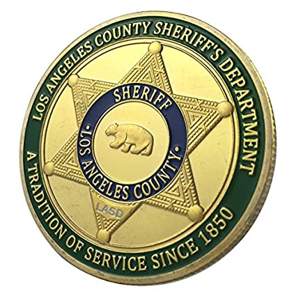 Los Angeles County Sheriff's Department / LASD GP Challenge Coin 1122#