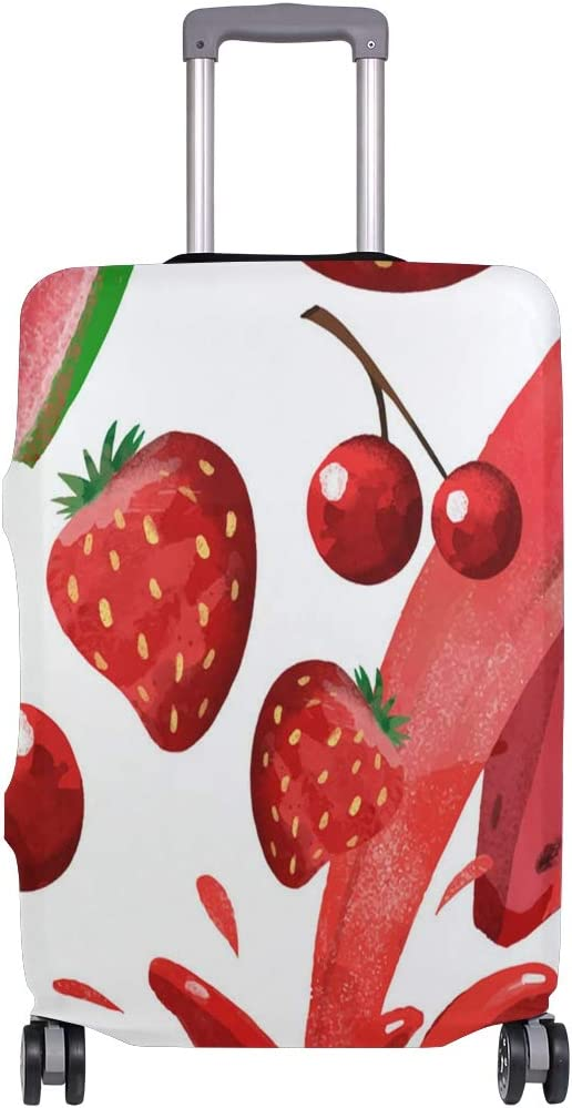 ANINILY Red Fruit And Juice Travel DIY Luggage Cover Suitcase Protector Baggage Fits S18-20 in
