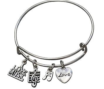 Music Bracelet Music Jewelry Music Gift Treble Clef Jewelry