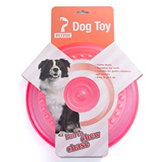 Petper Dog Flying Disc Toy, Dog Frisbees Indestructible 9 inches, Pink