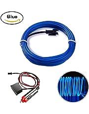 EL Wire, HopeU5® 5M luces de neón que brilla intensamente Strobing Super brillante batería