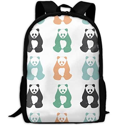 ZQBAAD Panda Bear Silhouettes Luxury Print Men And Women's Travel Knapsack