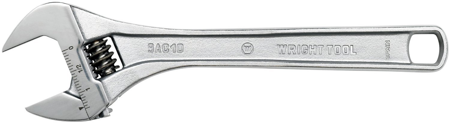 Wright Tool 9AC36 2-3/4-Inch to 4-3/4-Inch Capacity in-1/8-Inch Increments Giant Adjustable Wrench
