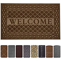 "Mibao Durable Rubber Doormat, 24""x 36"" Low-Profile Waterproof, Non Slip, Easy Clean, Washable Indoor/Outdoor Mats for Entry, Patio, Bathroom"