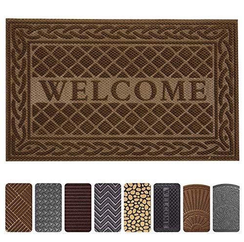 Mibao Entrance Door Mat, 24 x 36 inch Winter Durable Large Heavy Duty Front Outdoor Rug, Non-Slip Welcome Doormat for Entry, Patio