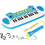 Love&Mini Piano Toy Keyboard for Toddlers Musical Instrument for Girls Birthday Gift 3 4 5 Years Old 31 Keys (Blue)