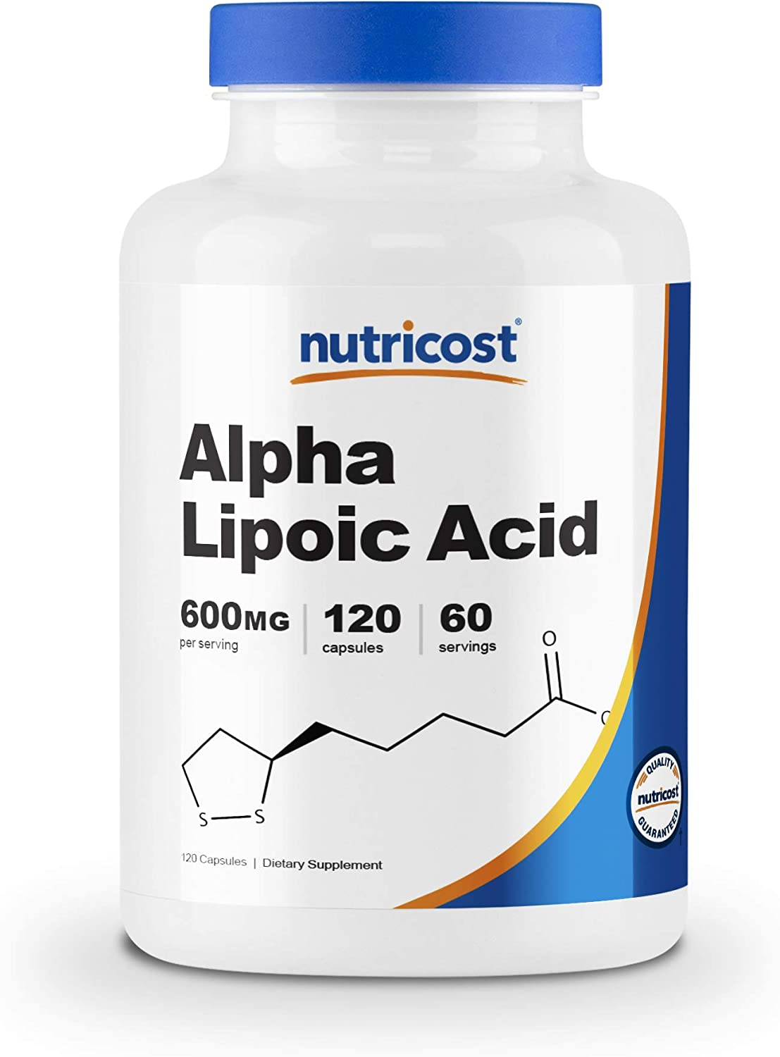 Nutricost Alpha Lipoic Acid 600mg Per Serving 120 Capsules, 60 Servings - Plant Based Caps, Non-GMO