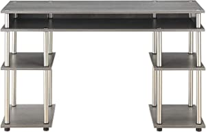Convenience Concepts Designs2Go No Tools Student Desk, Charcoal Gray