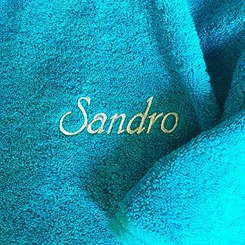 Toalla de ducha con nombres hochwertg bordados, Hawaii, Bella 500 g de calidad,