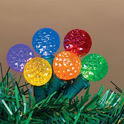 G12 Multi Leds - Sterling 60 UL LED Multi Color (red/yellow/blue/green/orange/purple). Indoor/outdoor. Diamond Cut Light String. Green Wire. String to String. 15.5 Ft. Lighted Length /16 Ft.5 In. Total Length (12 In.