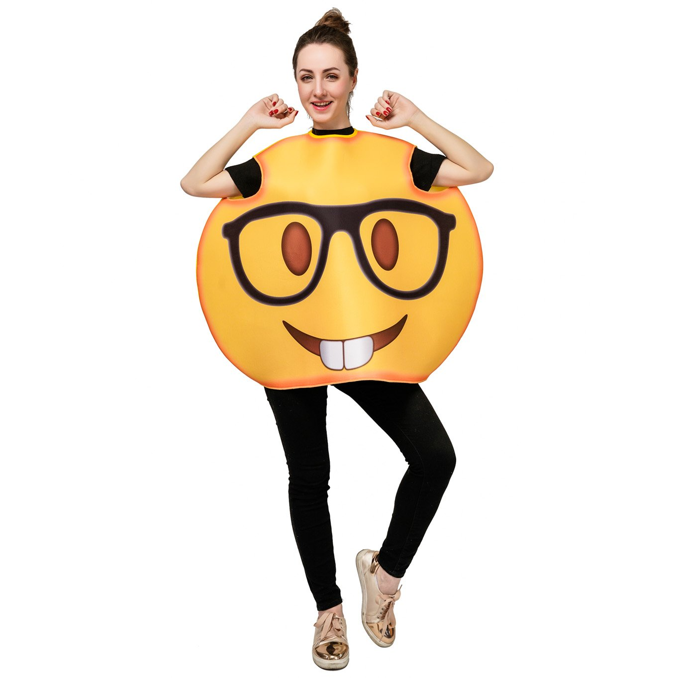 DSplay Emoticon Costumes for Unisex Adult OneSize (Glasses) by DSplay