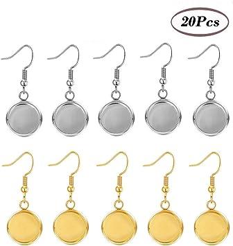 LOT de 100 CROCHETS simples BOUCLES D/'OREILLES DORE SANS NICKEL perles bijoux