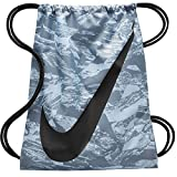 Cheap NIKE Young Athlete Drawstring Gymsack Backpack Sport Bookbag (Cool Grey Swirl and Signature Swoosh Logo)