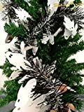 8 Pieces Tinse Garland For Halloween Tree or Door Windows Decoration, Shinny Party Accessory TG004