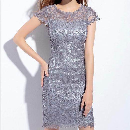 HNFYJQ Vestidos de Moda para Mujer, Gasa Bordado Paquete Nalgas ...