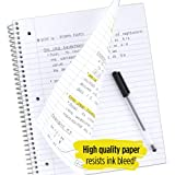 Five Star Spiral Notebook, 3 Subject, Wide Ruled