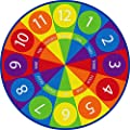 ECR4Kids Tick-Tock Clock Educational Activity Rug,