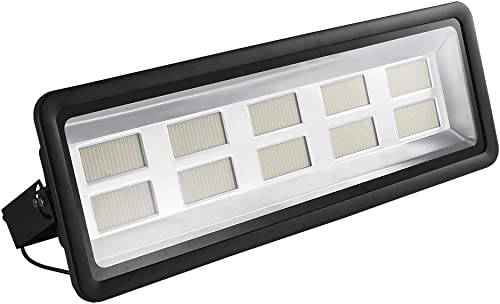 1000W LED Flood Light, 3000K Warm White Floodlight, IP65 Waterproof Super Bright Work Lights, CE and ROHS Certified Outdoor Security Lighting for Garage, Garden, Playground 110V 1000