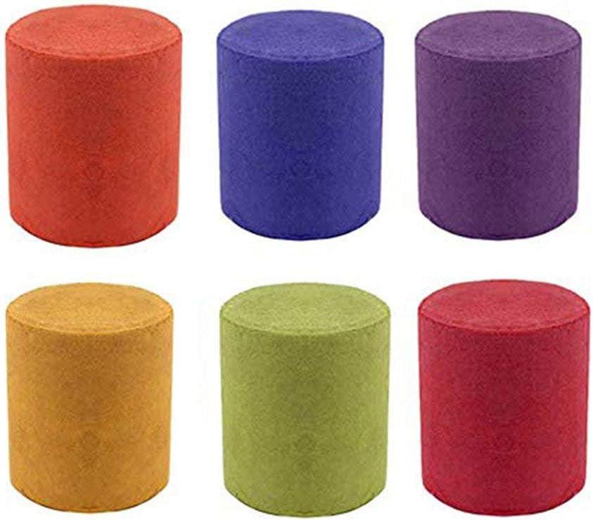 Pastel de Humo 6 Colores Redondo Accesorios de fotografía Escenario de Cine Efecto de etapa Fiesta Efecto de humo del arco iris Accesorios de tiro Necesidades de fotografia (L, 6pcs)