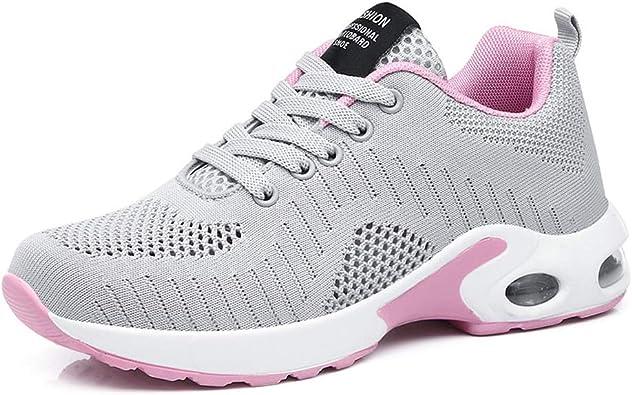 Zapatillas Deporte Mujer Running Correr Gimnasio Senderismo Sneakers Deportivas Caminar Aire Libre Zapatos Casual Negro Azul Rojo 35-42: Amazon.es: Zapatos y complementos
