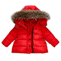 CHshe Baby Coat, Infant Toddler Baby Boy Girl Winter Button Down Zipper Hooded Thick Separable Cotton Blend Down Jacket Outwear for 1-3 Years Old