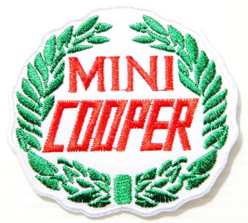 MINI COOPER Countryman Logo Sign Car Patch Sew Iron on Applique Embroidered T shirt Jacket Costume BY (Cooper Red Mini Intake System)