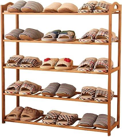 Estante para zapatos de bambú - Zapatillas multifunción ...