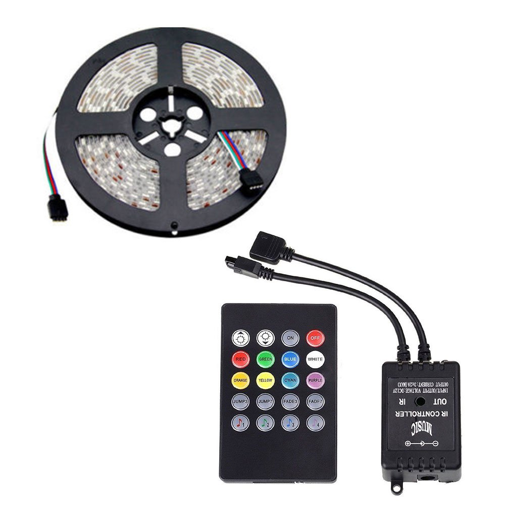 Goodjobb 1PC Music Control Lights with 5 Meters LED Waterproof Lights