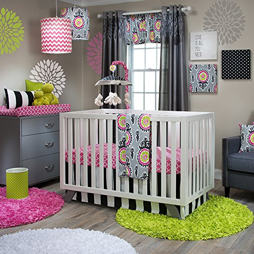 Crib Skirt Jean Cotton Glenna (Glenna Jean Pippin 3 Piece Crib Set)