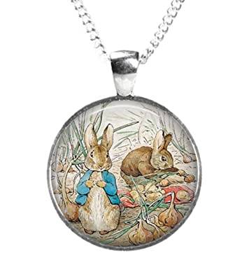 Rosetta London PETER RABBIT Beatrix Potter - Glass Picture Pendant on Chain 26c4KK9t