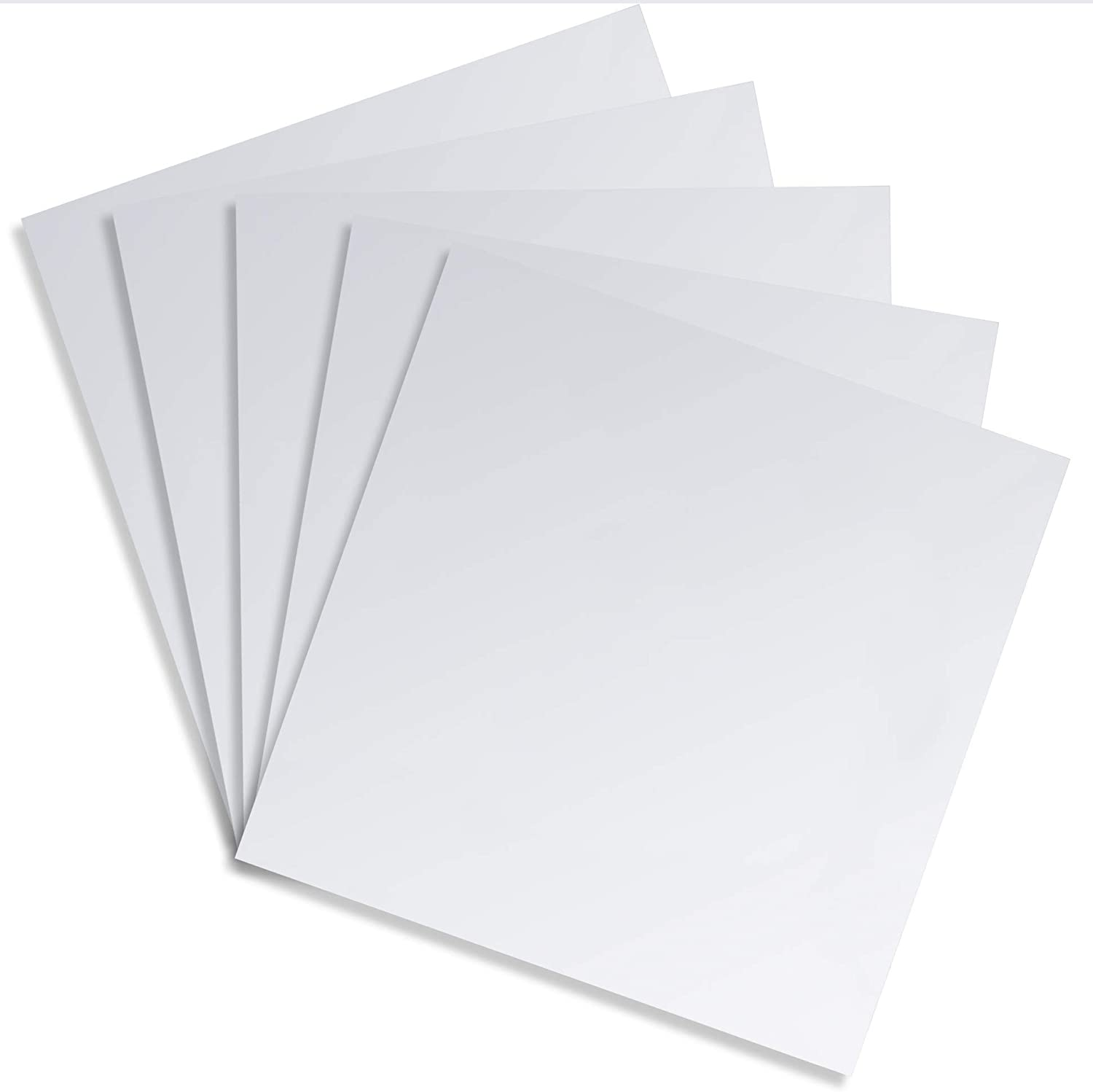 Flexible Shiny Metallic Sheets for Arts and Crafts (Silver, 11.8 in, 5 Pack)