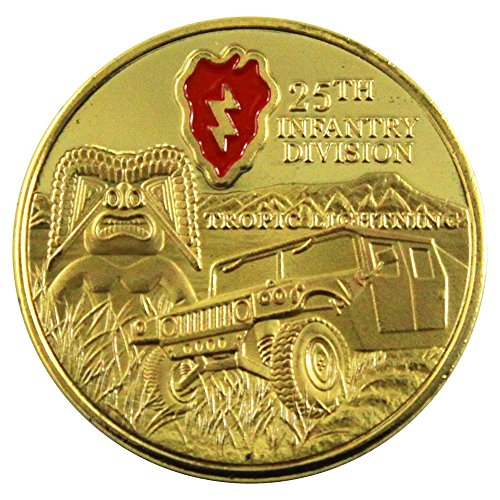 - Art Crafter The USA Army 25th Infantry Division Challenge Coins Badge A046J