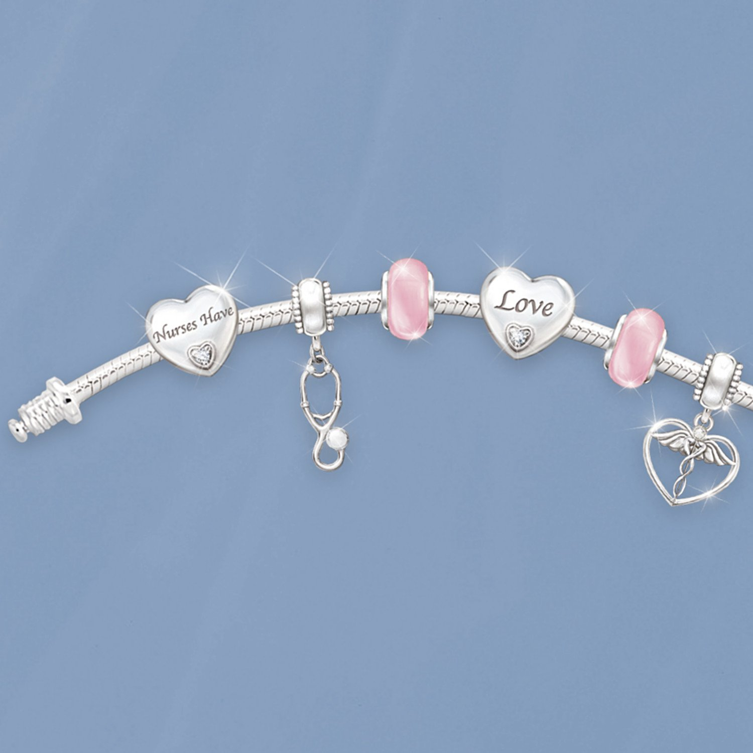A Nurse's Heart Charm Bracelet by The Bradford Exchange by Bradford Exchange (Image #3)