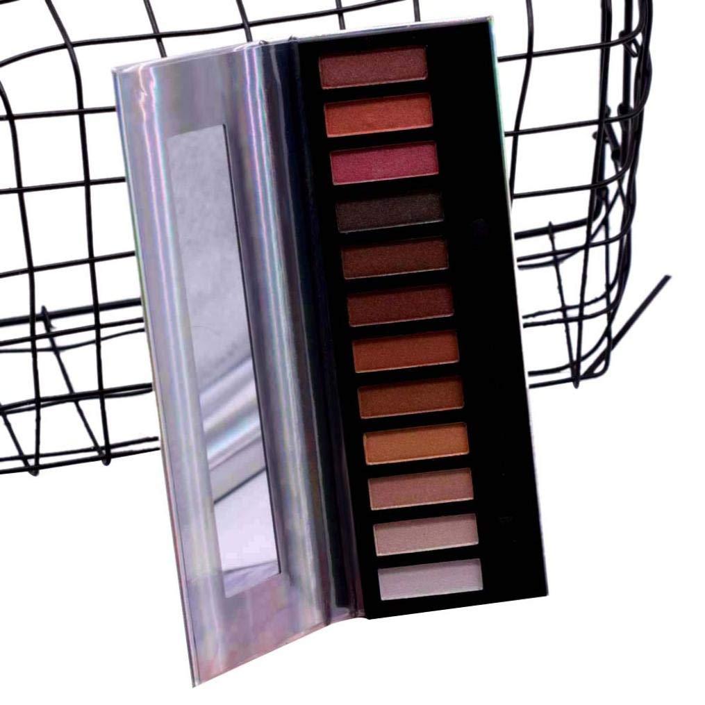 Pallette Fards à Paupière, AMUSTER Paillettes Poudre Ombre À Paupières Maquillage Imperméable À L'eau Éclat Pigment Ombre à Paupières (B)
