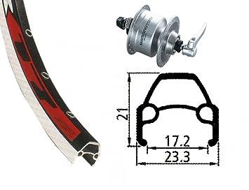 Bike-Parts Unisex - Bicicleta V-RAD 75Nabend DH3N72, Color Plata, Talla única: Amazon.es: Deportes y aire libre