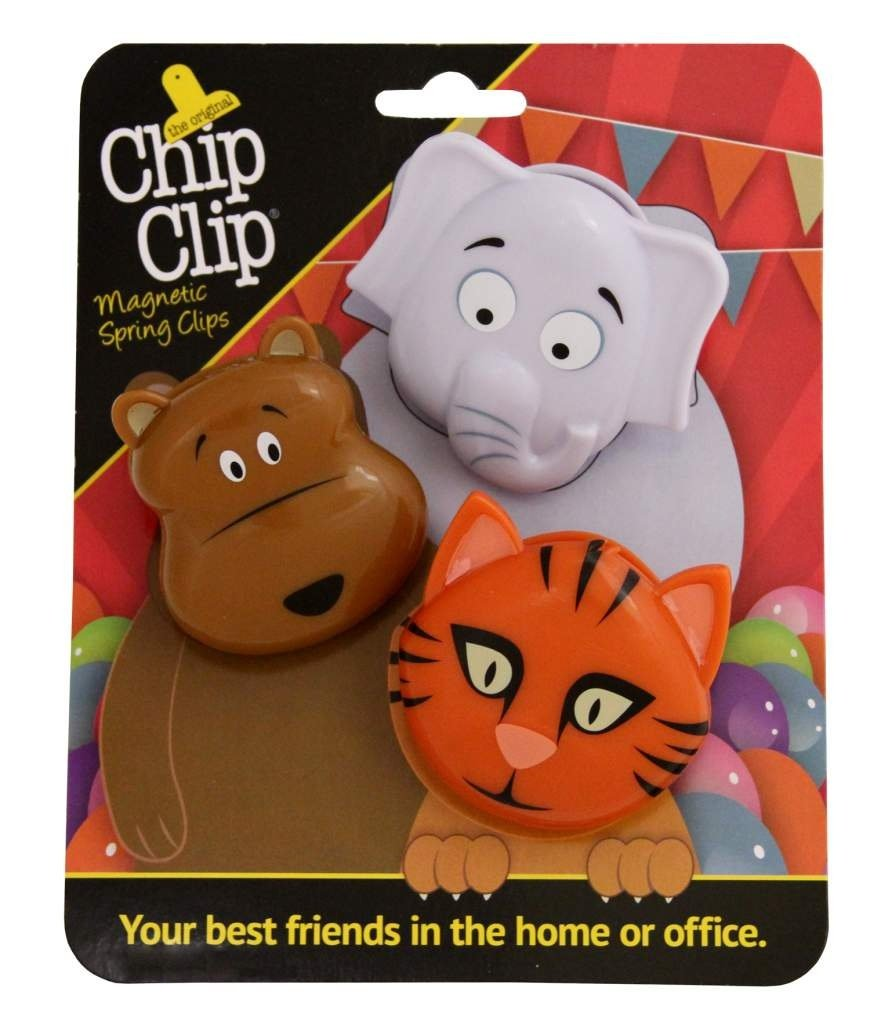 Chip Clip Animal Clips, Your Best Friends in the Home or Office (2.5 X 3, Zoo)