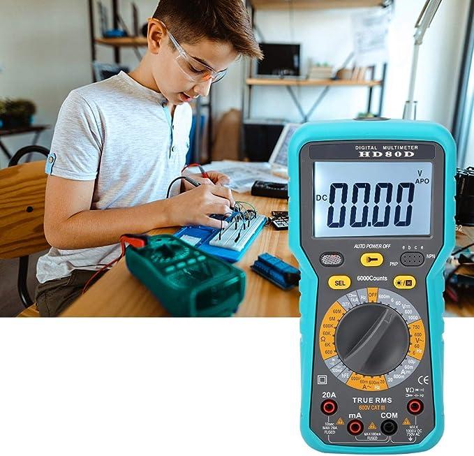 HYY-YY Digital multimeter Digital Multimeters,HD80D 6000 Counts Digital Multimeter ACV//DCV Electric Hand-Held Tester Meter Tools