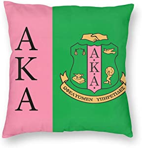 VIMMUCIR Alpha Kappa Alpha Logo Throw Pillow Covers Square Cushion Case for Room Bedroom Sofa Chair Car