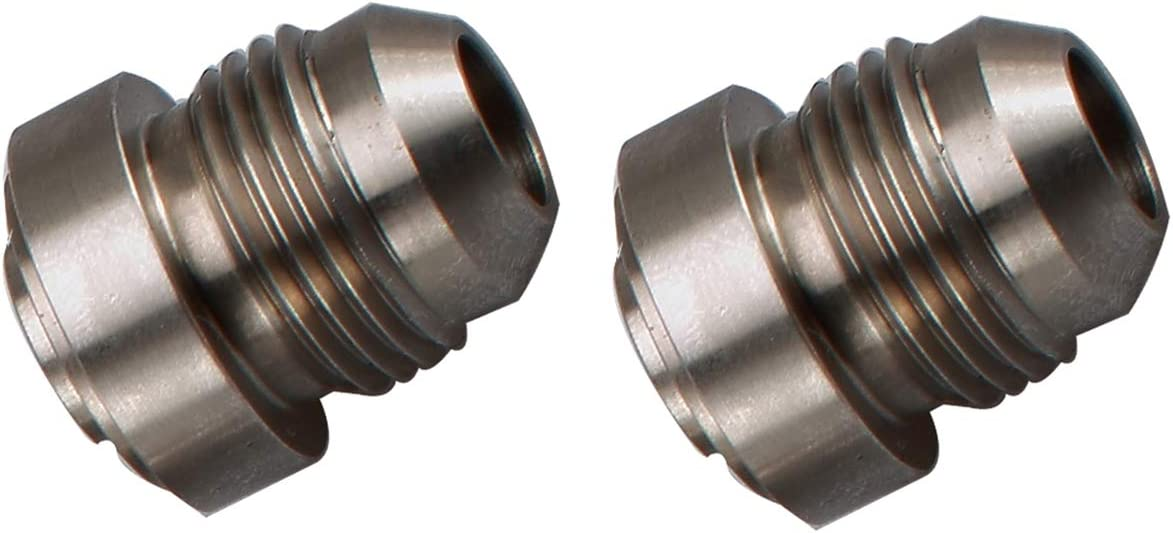 Natural 3//4 Weldable Fuel Tank Fitting Aluminum Female 3//4 NPT Weld On Bung Pack of 2