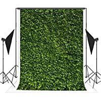 5x7ft(150x220cm) Cotton Nature Green Leaves Backdrops Photography Wedding or Children Birthday Background