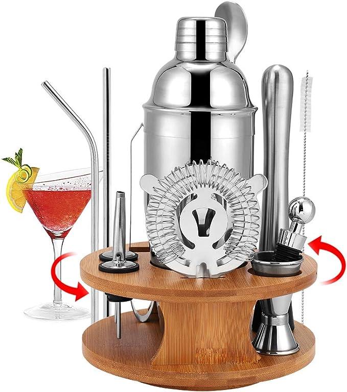 HALOVIE Coctelera de Cóctel Conjunto Coctelera Juego de 14 Piezas 750ml Profesional Set para Cócteles Kit de Coctelería Bartender Acero Inoxidable ...
