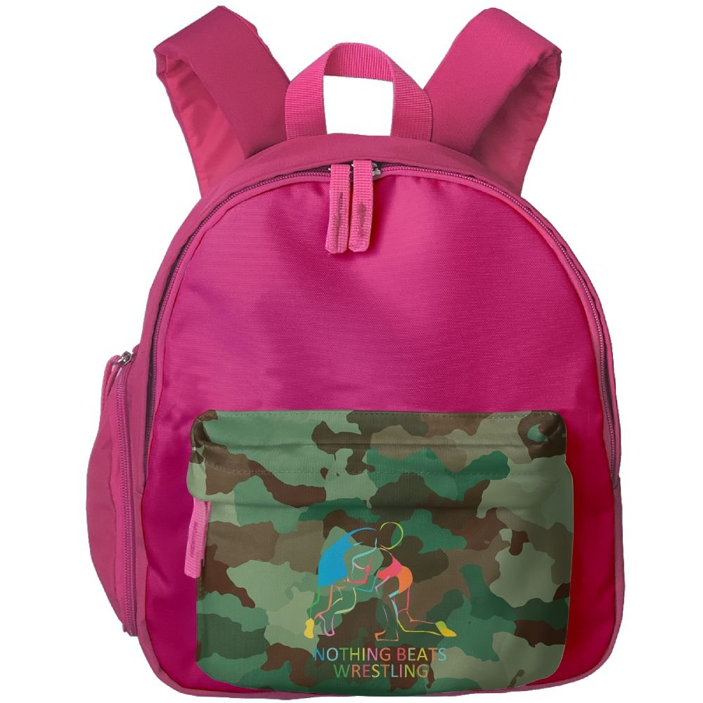 Nothing Beats Wrestling Boys Cute School Backpacks by SSW BAGS