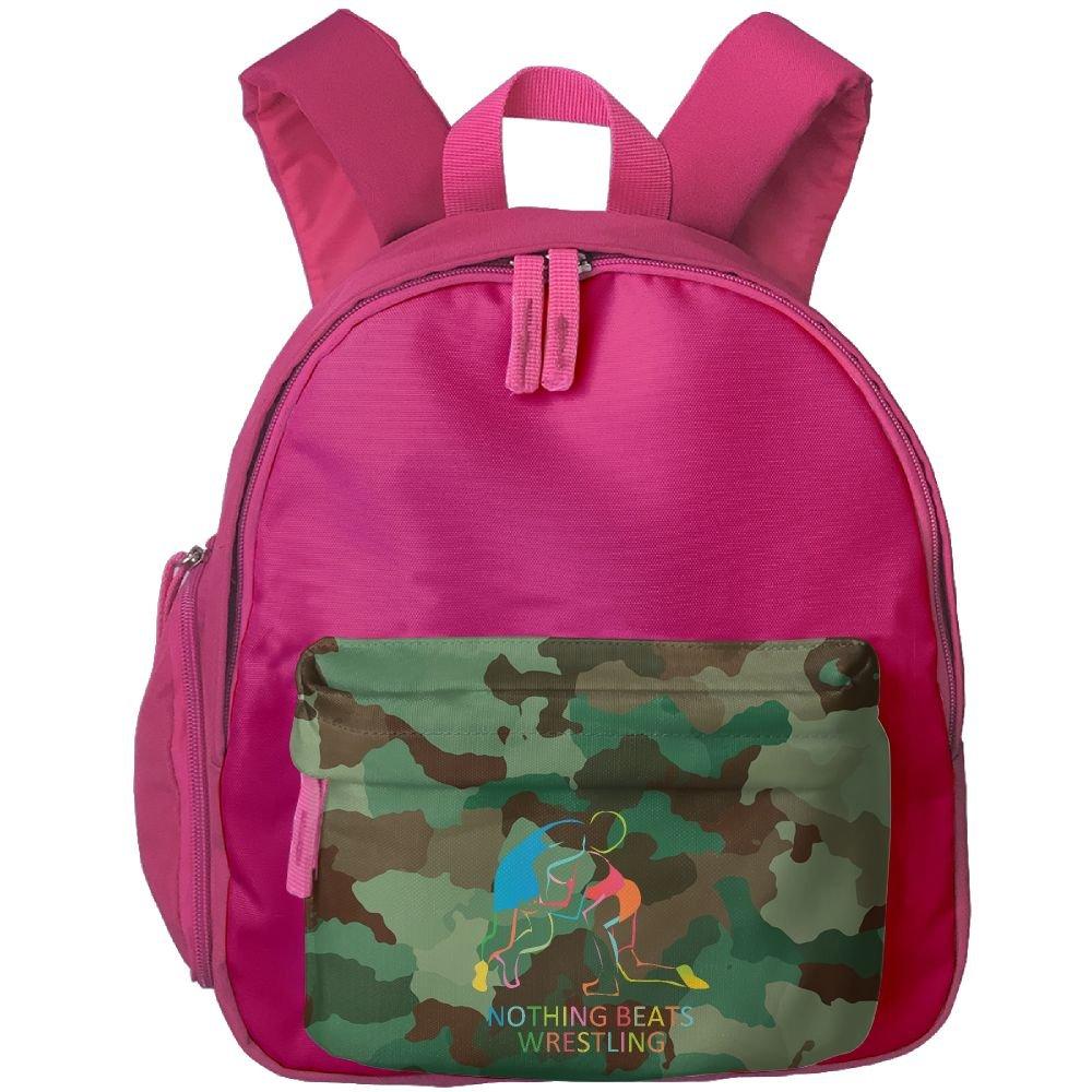 Nothing Beats Wrestling Boys Cute School Backpacks