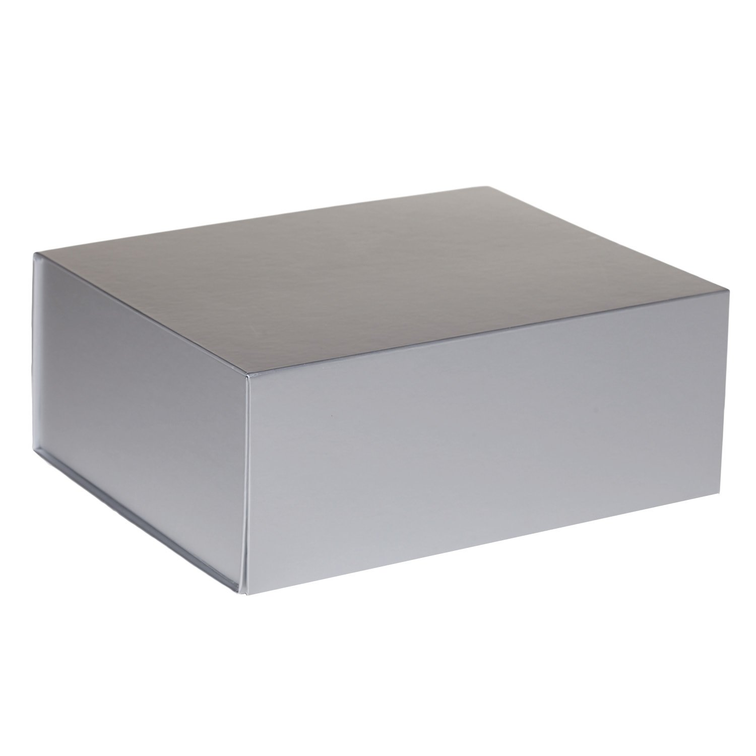 Jillson Roberts 24-Count Large Magnetic Closure Gift Boxes Available in 5 Colors, Metallic Silver Matte